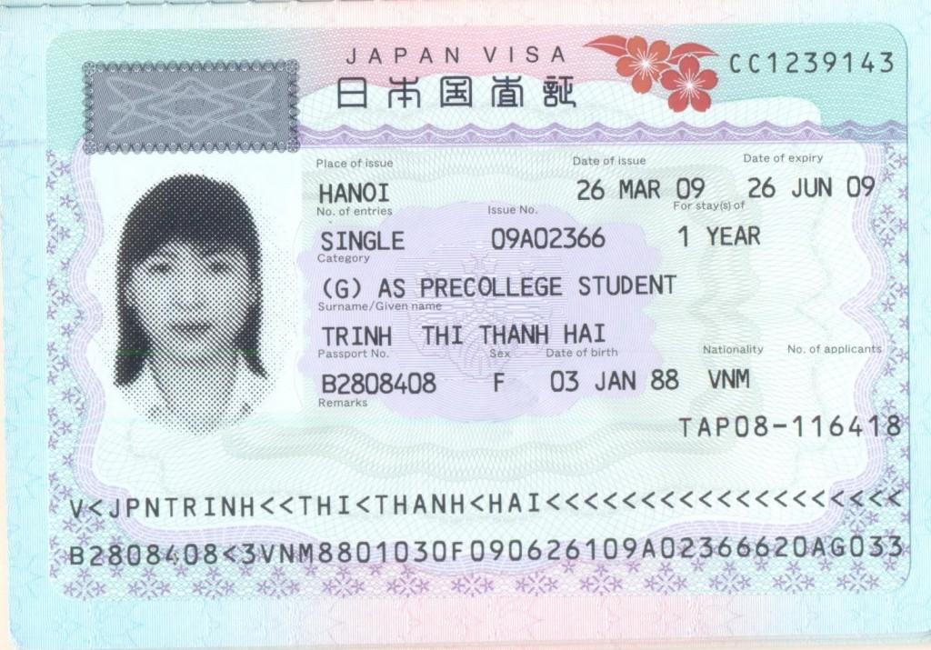 Các loại visa du học Nhật Bản