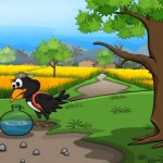 học tiếng nhật cùng du học thanh giang qua câu chuyện con quạ và bình nước