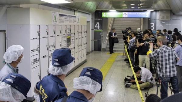 Thi thể người bị giấu trong vali ở ga tàu Nhật Bản